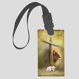 Lion of Judah, Lamb of God Large Luggage Tag