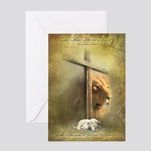 Lion of Judah, Lamb of God Greeting Card