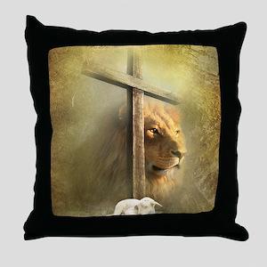 Lion of Judah, Lamb of God Throw Pillow