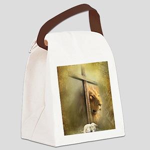 Lion of Judah, Lamb of God Canvas Lunch Bag