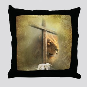 Lion of Judah, Lamb of God Throw Pillow