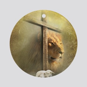 Lion of Judah, Lamb of God Round Ornament