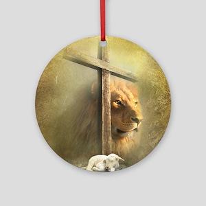Lion of Judah, Lamb of God Round Ornament
