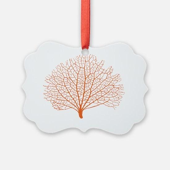 red sea fan coral Ornament