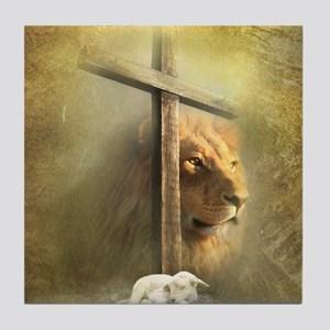 Lion of Judah, Lamb of God Tile Coaster