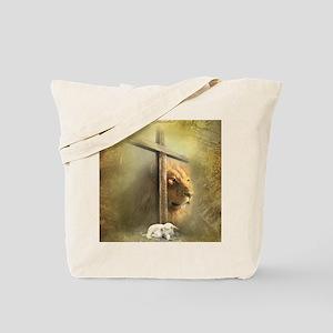 Lion of Judah, Lamb of God Tote Bag