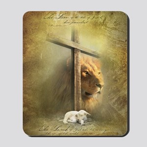Lion of Judah, Lamb of God Mousepad