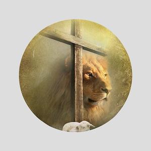 "Lion of Judah, Lamb of God 3.5"" Button"