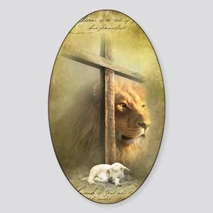 Lion of Judah, Lamb of God Sticker (Oval)