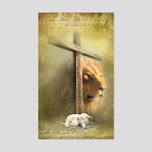 Lion of Judah, Lamb of God Sticker (Rectangle)