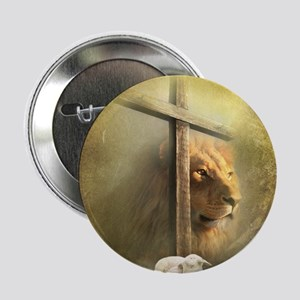 "Lion of Judah, Lamb of God 2.25"" Button"