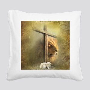 Lion of Judah, Lamb of God Square Canvas Pillow