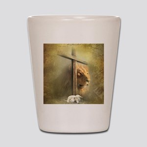 Lion of Judah, Lamb of God Shot Glass