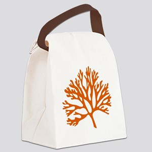 red sea fan coral drawing Canvas Lunch Bag
