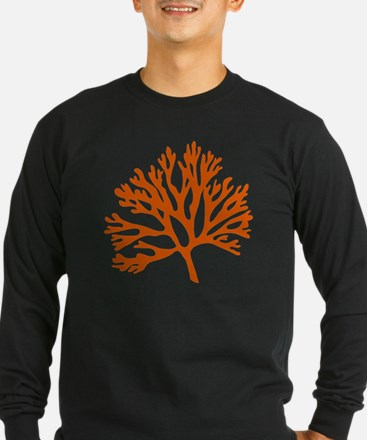 red sea fan coral drawing T