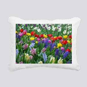 Spring garden flowers Rectangular Canvas Pillow