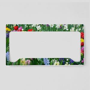 Spring garden flowers License Plate Holder