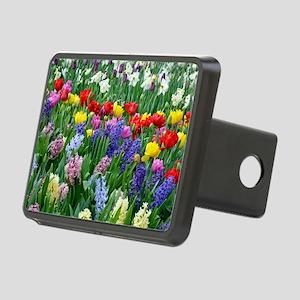 Spring garden flowers Rectangular Hitch Cover