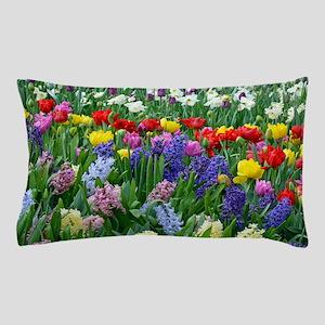 Spring garden flowers Pillow Case