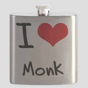I Love Monk Flask