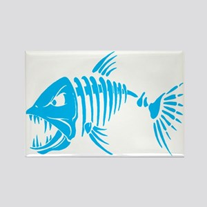 Pirate fish Rectangle Magnet