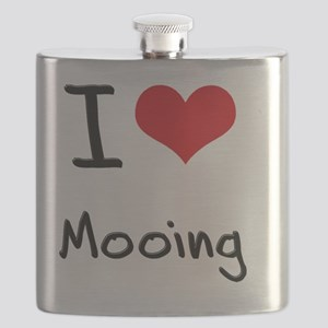 I Love Mooing Flask