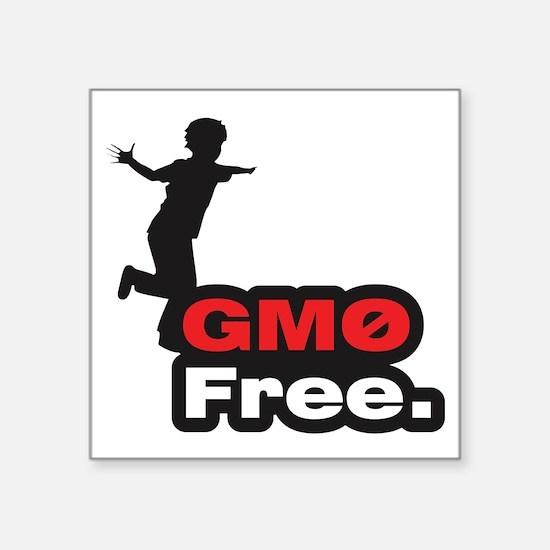 """GMO Free Kid Square Sticker 3"""" x 3"""""""
