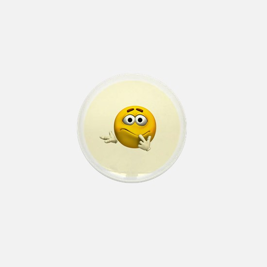 Confused Emoticon Mini Button