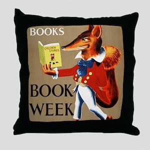1950 Childrens Book Week Throw Pillow