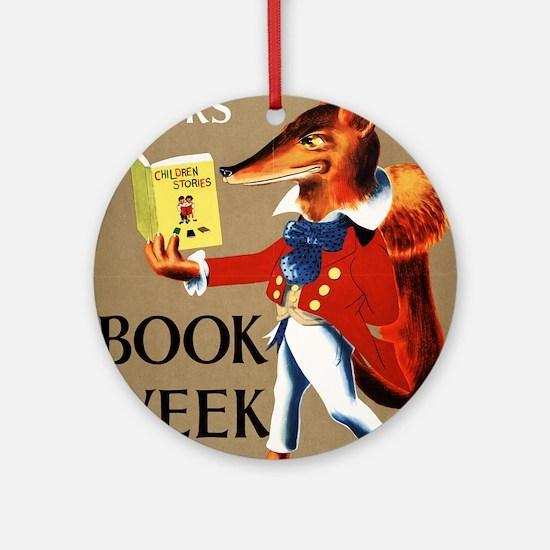 1950 Childrens Book Week Round Ornament