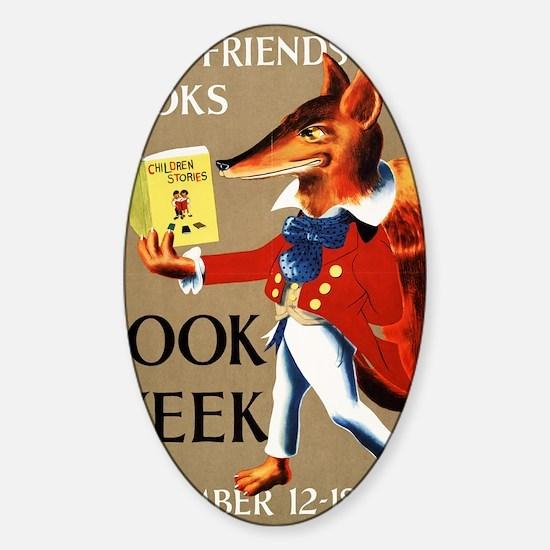1950 Childrens Book Week Sticker (Oval)