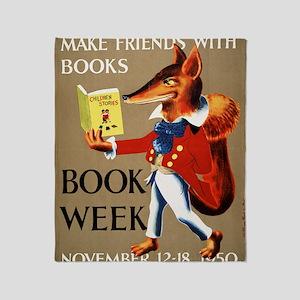 1950 Childrens Book Week Throw Blanket