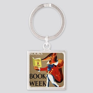 1950 Childrens Book Week Square Keychain