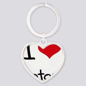 I Love Motors Heart Keychain