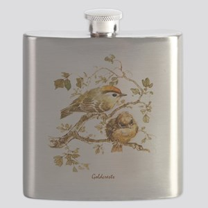 "Birds and Young ""Goldcrests"" Peter Bere Desi Flask"