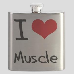I Love Muscle Flask