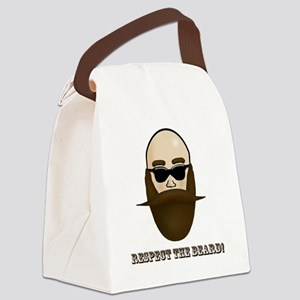 Respect the Beard! Canvas Lunch Bag