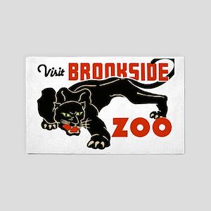 Visit the Zoo Vintage Poster Leopar 3'x5' Area Rug