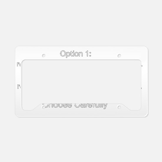 Then/Than License Plate Holder