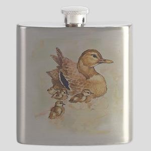 """Birds and Young """"Mallard Ducks"""" Peter Bere D Flask"""