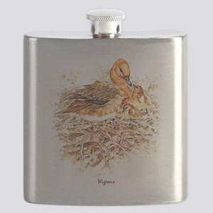 """Birds and Young """"Wigeon Ducks"""" Peter Bere De Flask"""