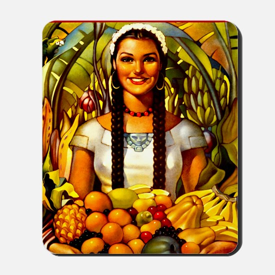Vintage Mexico Fruit Travel Mousepad