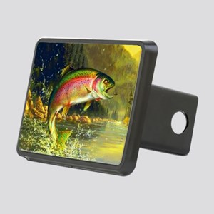 Jumping Rainbow Trout Rectangular Hitch Cover