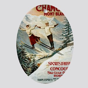Chamonix Mont-Blanc France Oval Ornament