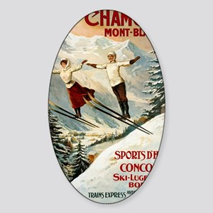 Chamonix Mont-Blanc France Sticker (Oval)