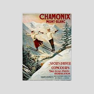 Chamonix Mont-Blanc France 5'x7'Area Rug