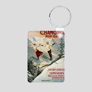 Chamonix Mont-Blanc France Aluminum Photo Keychain
