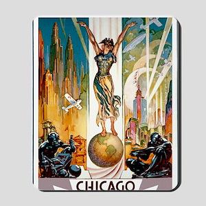 Vintage Chicago Worlds Fair B Mousepad