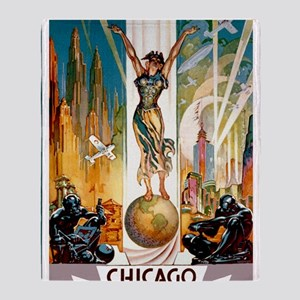 Vintage Chicago Worlds Fair B Throw Blanket