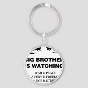 Big Brother is Watching I Round Keychain